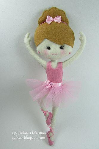 bailarina de fieltro