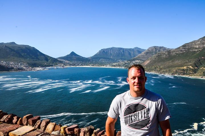 Me - Chapman's Peak with Houtbaai in the background