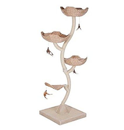 Epic Flower XXL Cat Tree u features water hyacinth leaf platforms a sisal post and a fabulous scratching mat plete in a cosy and practical innovate tree