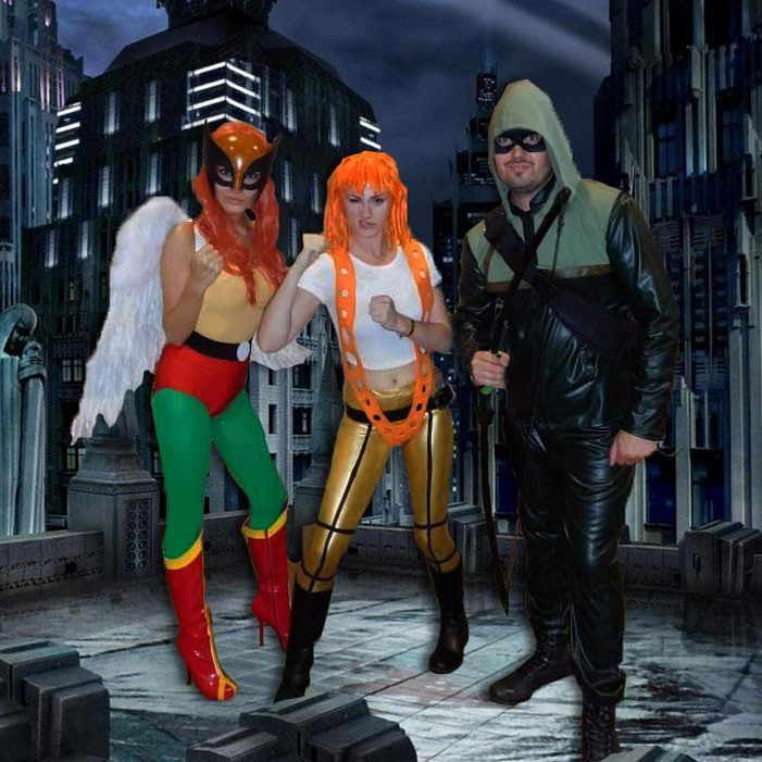"""An arrow can only be shot by pulling it backward. So when life is dragging you back with difficulties, it means that it's going to launch you into something great. So just focus and keep aiming."" - Green  Arrow #tbt #throwback #hawkgirl #greenarrow 👋 If you know these cosplayers, please tag in the comments! 👍 #leeloo #thefifthelement #photoshop #edit #cosplay #potd #cosplayers #chicago #comiccon #cosplaygirl #diycosplay #scifi #crossover #dccomics #heroes #throwbackthursday"