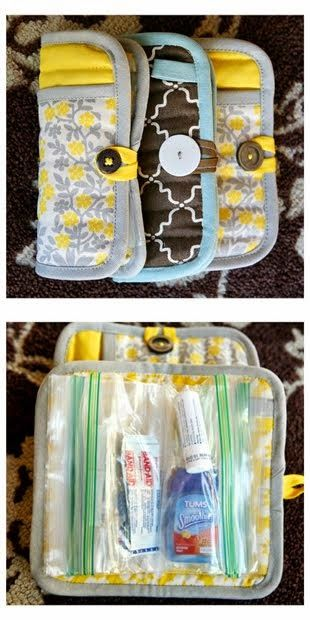 Potholder emergency clutch.  Would make a good first aid kit for Girl Scouts.
