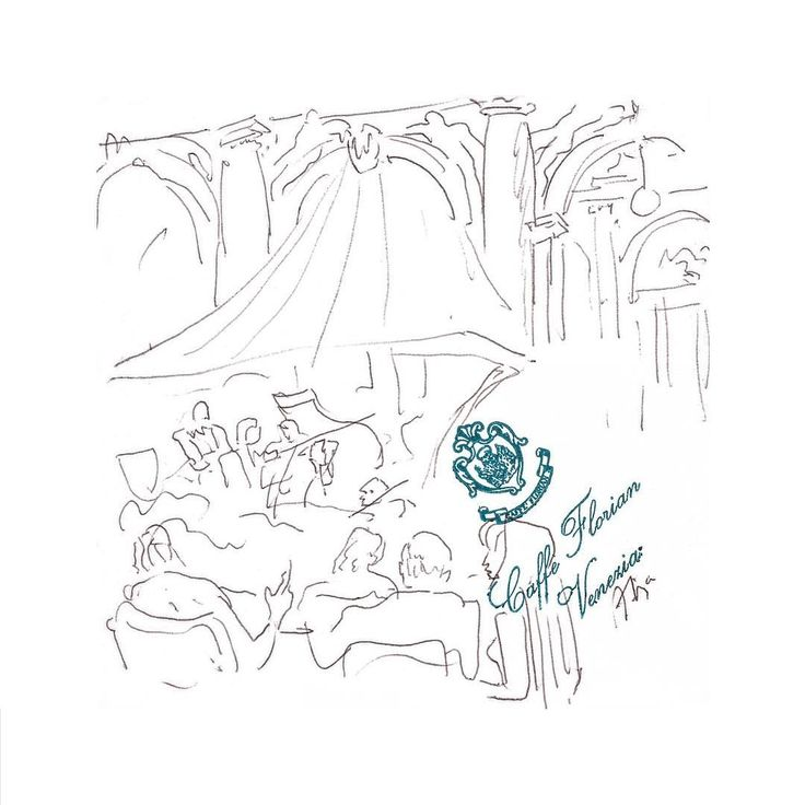 Álvaro Siza. Caffe Florian Venice. Ball-point pen on paper table napkin. (174x169mm)