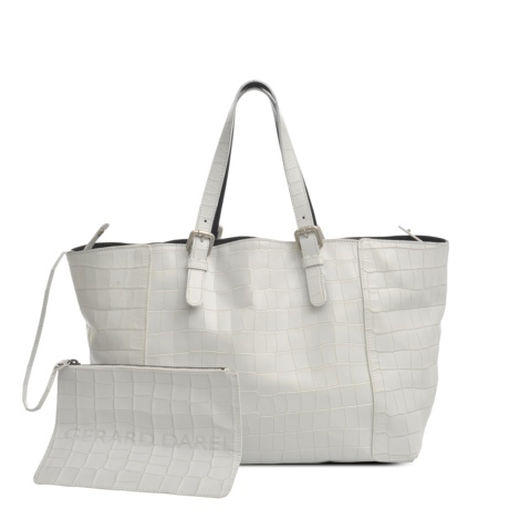 White croc-print leather Simple bag by Gérard Darel #monnierfreres #gerarddarel #bag