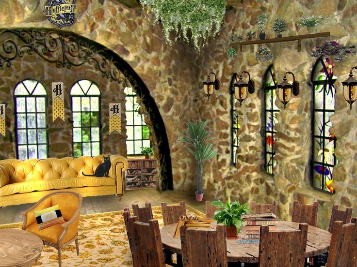 A Very Nice Rendering Of The Hufflepuff Common Room. Part 88