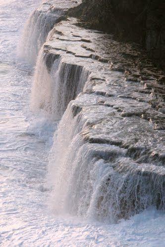 Oceanic Waterfall, Makeke Cliffs, Tonga