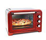 """#10: Americana ERO-2600R Americana Collection Retro 6 Slice/12"""" Pizza Toaster oven Red  Red"""