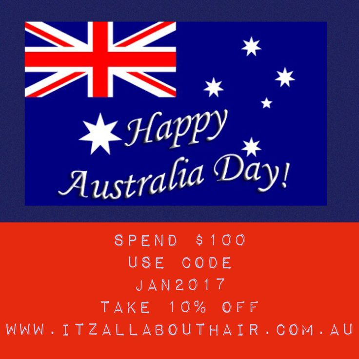 Take 10% off already discounted items  — Happy Australia Day  Take 10% off already discounted items when you spend $100 in a transaction  Code JAN2017