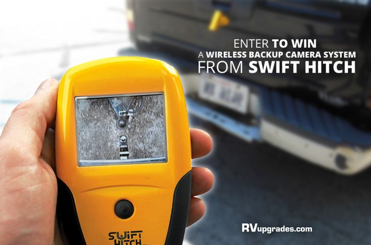 Enter to win a Swift Hitch SH01 Wireless Backup Camera System! This week we will have 1 lucky winner! This camera makes it so you do not have to get in and out of your truck to make adjustments to your trailer while hooking up. To find out more on how to enter click here --> https://www.rvupgradestore.com/RVupgrades_weekly_giveaway-a/619.htm?utm_content=buffer4fc4d&utm_medium=social&utm_source=pinterest.com&utm_campaign=buffer
