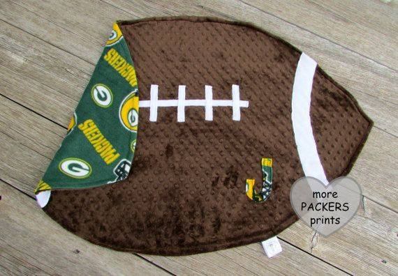 Hey, I found this really awesome Etsy listing at https://www.etsy.com/listing/254916384/football-baby-blanket-green-bay-packers