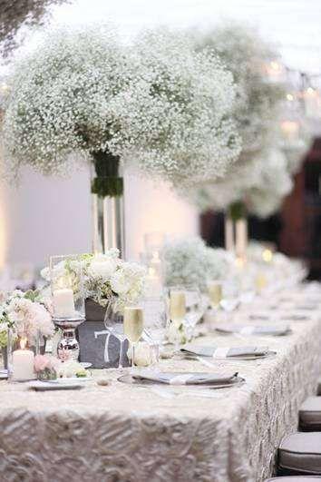 baby breath flowers wedding tablescape
