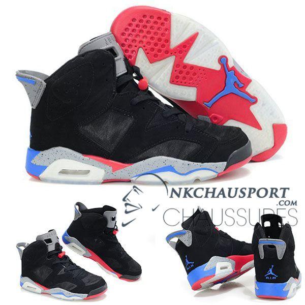 premium selection 42719 34e1c Nike Air Jordan 6   Classique Chaussure De Basket Homme Noir-5