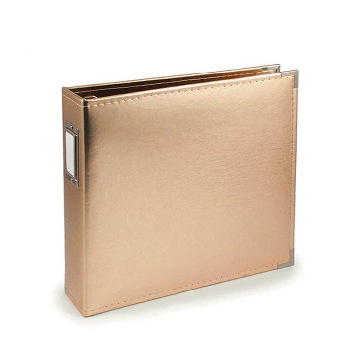 Classic Leather - Album à 3 anneaux 30 x 30 cm - or