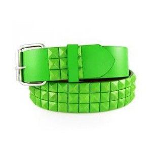lightb green everything | Light Green Studs Fashion Leather Belt - Polyvore