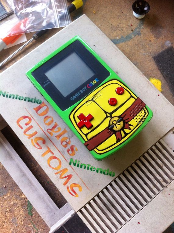 TMNT Raphael themed gameboy color by doyledean on Etsy