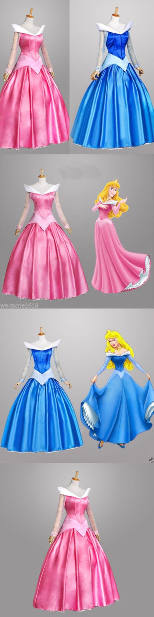 Halloween Costumes Women: Hot Sleeping Beauty Princess Aurora Costume Party Dress Pink Adult Size S-Xl -> BUY IT NOW ONLY: $59.99 on eBay!