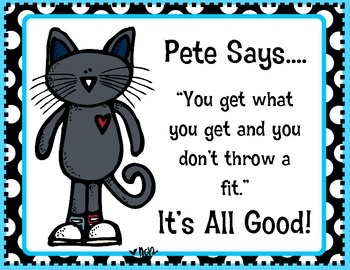 First Grade Fever!: Pete the Cat Freebie Posters