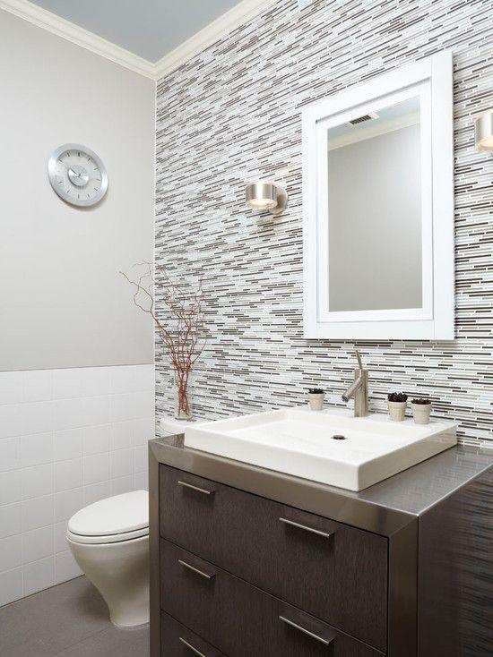 Contemporary   Small half bathrooms, Small half baths ...