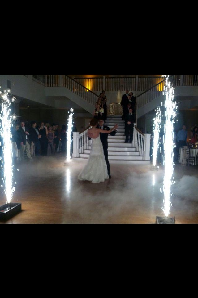 Indoor fireworks at wedding for first dance!! Yes please!  Haute Weddings Kendall Plantation Boerne Texas