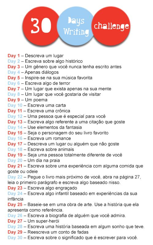 #Desafio - 30 Days Writing Challenge (30DWC)
