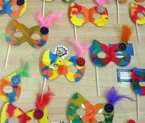 mascaras carnaval niños