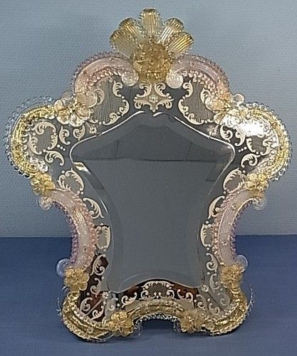 LA2JJ/12 * BEAUTIFUL MEDIUM MURANO ART GLASS MIRROR VINTAGE ITALY 1930´S | eBay