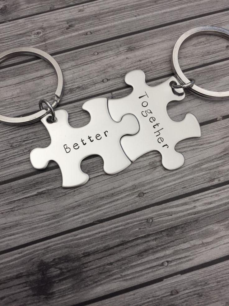 Better together keychains, couples keychains, boyfriend gift