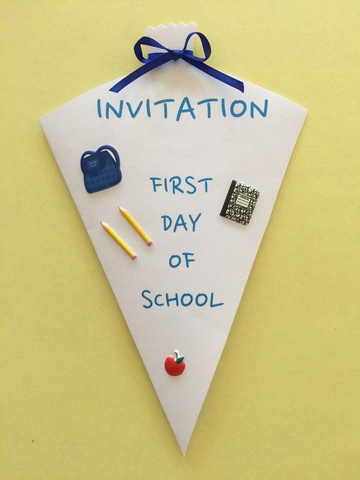 First Day In School Celebration http://theomaway.com/children/make-an-invitation-for-a-first-day-of-school-celebration-its-easy/