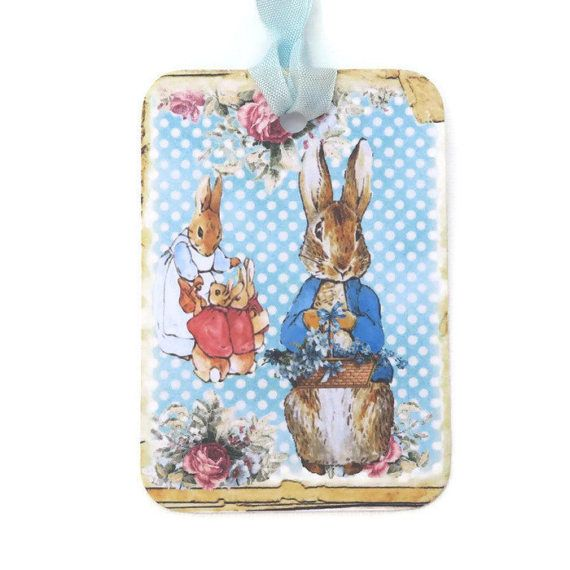 Peter Rabbit Gift Tags Bunny Rabbit Vintage by EnchantedQuilling
