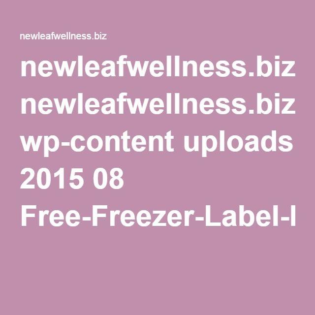 newleafwellness.biz wp-content uploads 2015 08 Free-Freezer-Label-PDF-File.pdf