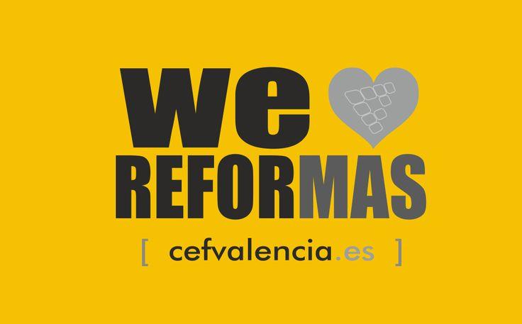 Nos ENCANTAN las #REFORMAS WE LOVE REFORMAS  CEF Valencia, s.l. #proyectos y #reformas integrales www.cefvalencia.es/reformas-integrales.html