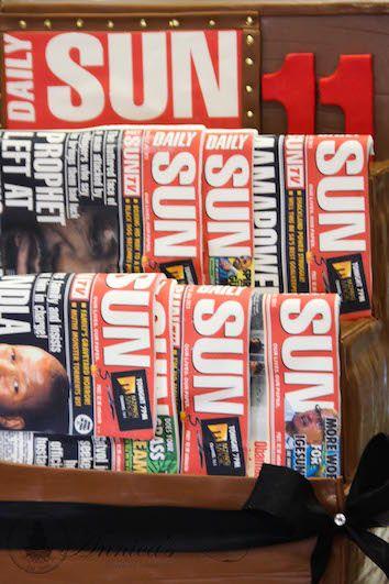 Sun News Cake Design by Annica's