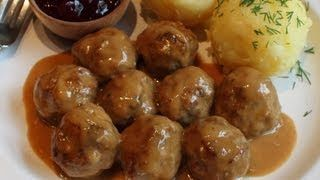 Swedish Meatballs Recipe -- Beef & Pork Meatballs with Creamy Brown Gravy, via YouTube.