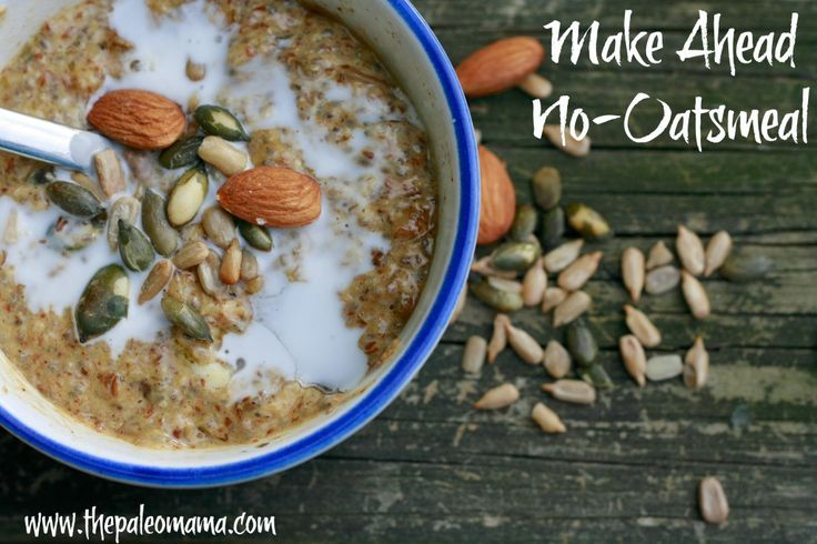 Make Ahead No-Oatsmeal -  a protein packed breakfast alternative to oatmeal!!! | The Paleo Mama