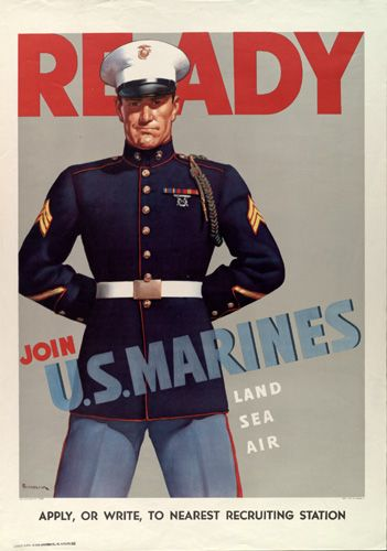 US Marine Corps recruiting poster, WWII