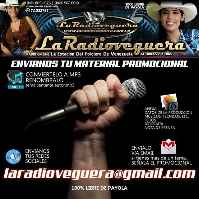 Escuche @laradioveguera LA ESTACION DEL FOCLORE DE VENEZUELA emisora ONLINE-24horas Con la mejor programaciòn folclórica de Venezuela en franco apoyo al nuevo talento 100% libre de payola. conectate desde el link en su perfil de instagram  compatible con #android  perfil. http://ift.tt/2vtJXhX #llano #joropo #parrando #nuevostalentos #arpa #musicos #gaita #tambor #radiovegueros