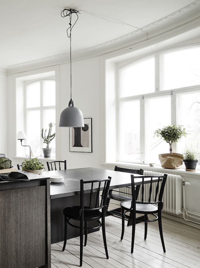 black dining table extension to kitchen island black