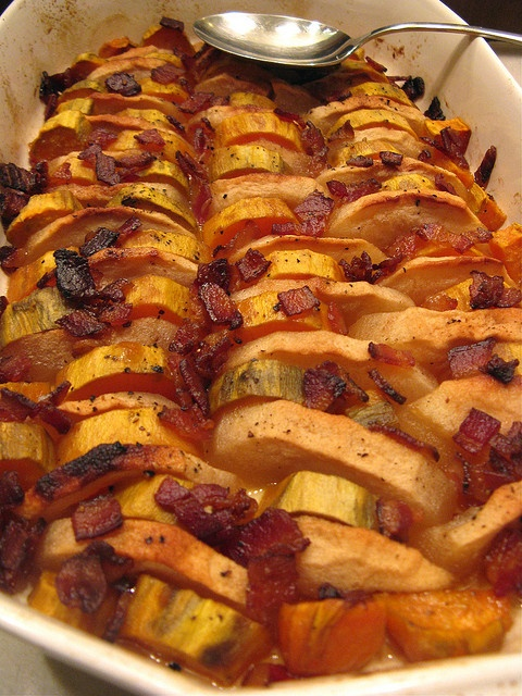 Maple-Glazed Sweet Potatoes & Apples with Bacon by Kat at A Good ...
