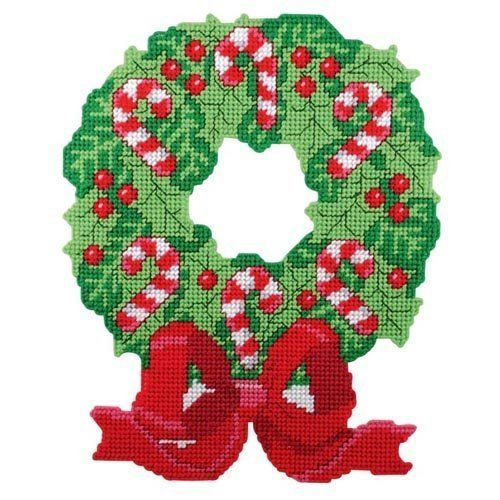 Wreath Christmas Plastic Canvas Buscar Con Google NAVIDAD EN PLASTIC CANVAS Pinterest