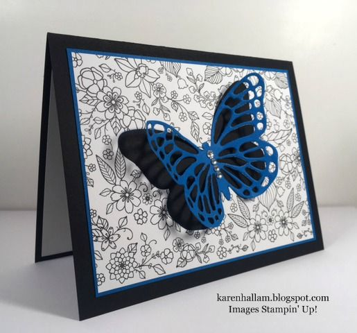 Karen's Stampin' Habit!: Blue Butterfly for GDP#075