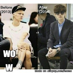 he became more manly ← Luhan will always be manly XD