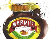 Georgina Luck from Kent, England illustrated these iconic packaging brands, Colman's Mustard, Heinz Bens, Lea Perrins, Lyles Golden Syrup, Marmite and Royal Baking Poweder.