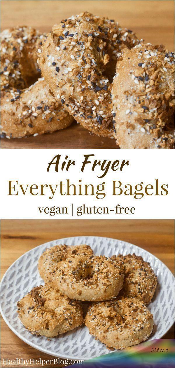 Vegan Everything Air Fryer Bagels em 2020 Receitas