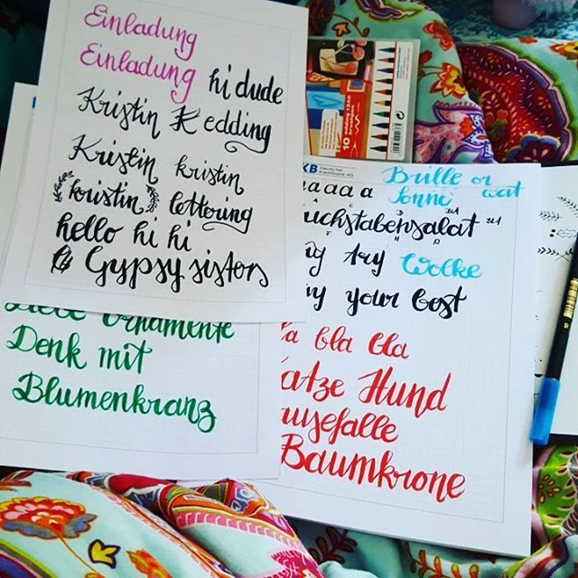 Ich lasse mich ja gerne von Trends anstecken und der lettering Trend ist absolut schön und praktisch. #frauannika #handlettering #handletteringdiekunstderschönenbuchstaben