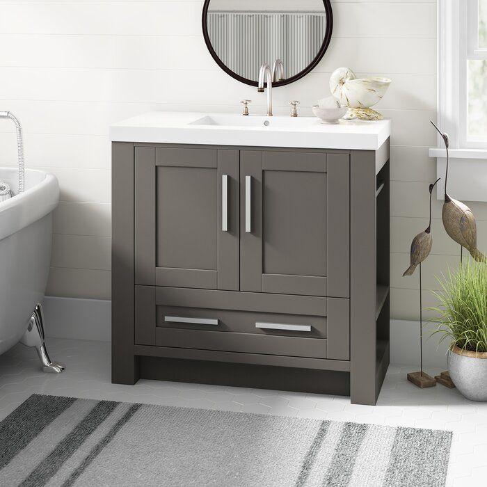 Olivia 42 In W X 35 1 2 In H Single Vanity In White With Marble Vanity Top In White Marble Vanity Tops Bathroom Vanity Tops Single Vanity