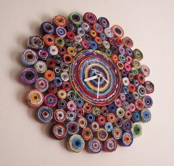 Orologio colorato - Riciclare oggetti per casa per realizzare un orologio colorato.