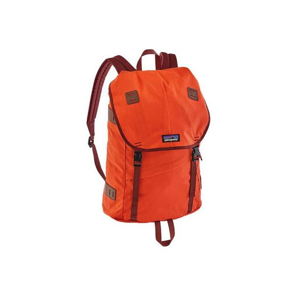 Patagonia Arbor Pack 26L - Cusco Orange ($99) ❤ liked on Polyvore featuring accessories, tech accessories, patagonia, laptop case, orange laptop case and padded laptop case
