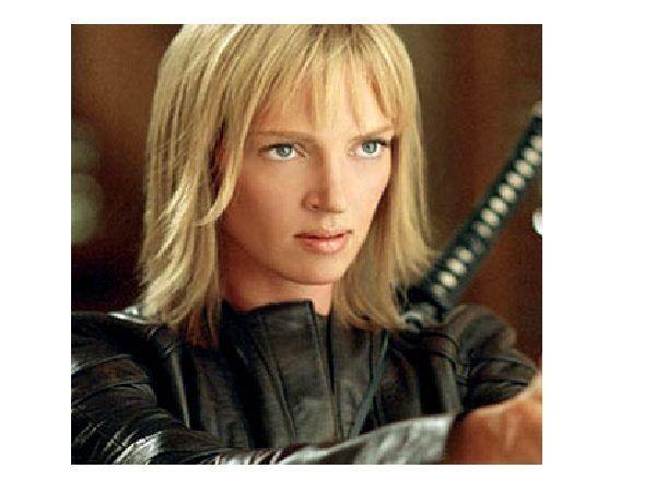 Uma Thurman Short Straight Blond Hair Uma Thurman Kill Bill Uma Thurman Kill Bill
