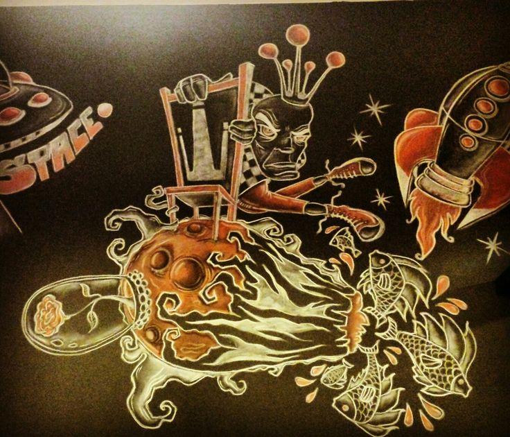 #littleprince #addingshades#wallcanvas#graffiti#bardone