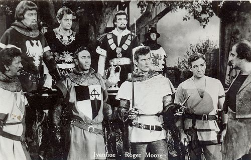 postcard - roger moore - ivanhoe - tv movie - '50s by sonobugiardo, via Flickr