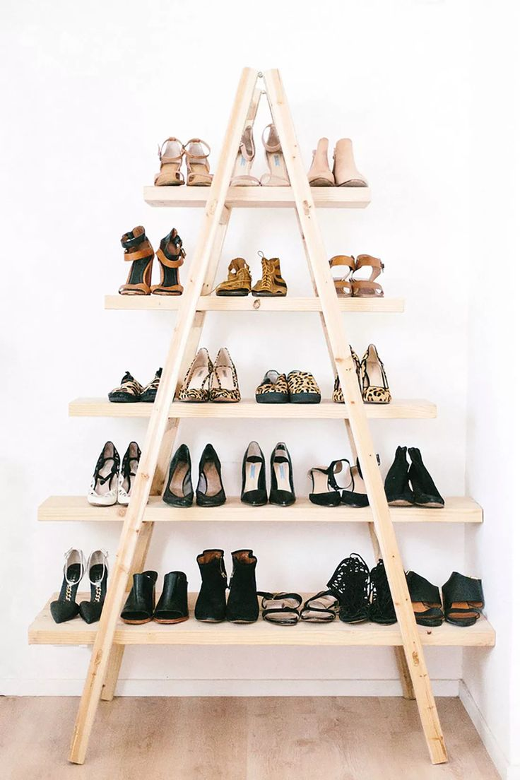 diys you need for your first apartment apartment shoe shelf